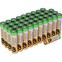 Batterien AAA Micro Super Alkaline Vorratspack 40 Stück [Markenprodukt GP Batteries]