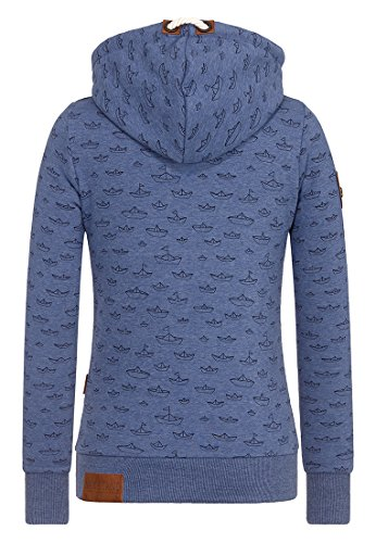 Naketano Female Hoody Stronger than ever II Blue Melange