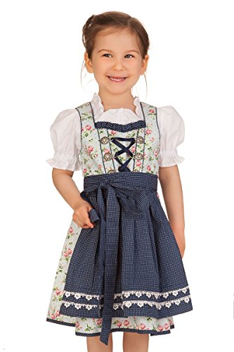 M.Stützle Trachten Kinderdirndl 3tlg. – Elly – blau
