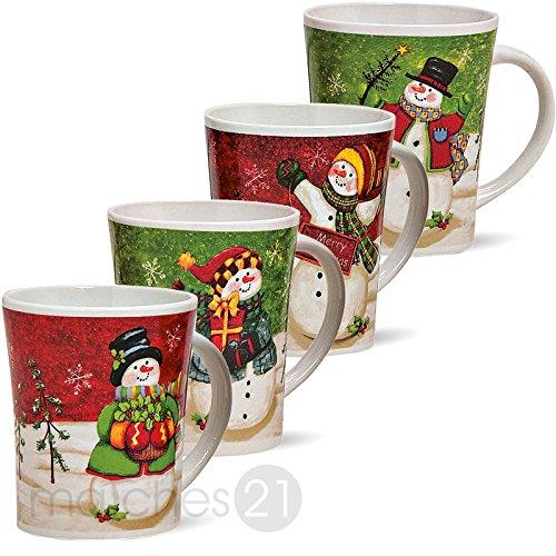 Juego de tazas de Navidad / 4 unidades