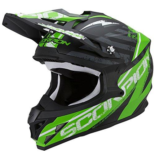 Scorpion-Casco-Moto-Vx-15-Evo-Air-Gamma-Nero-OpacoVerde-XXL