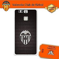 Funda Gel Flexible Valencia C.F. para Huawei P9, Carcasa TPU, protege y se adapta a la perfección a tu Smartphone. Licencia oficial Valencia C.F.-Escudo3