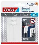 tesa Klebenagel für Tapeten und Putz/Selbstklebende Nägel für empfindliche Oberflächen/Leicht anzubringen und zu entfernen - rückstandslos/2 x 2kg Halteleistung