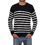 Herren Matrosen-Pullover M500 natur/marineblau - HUBLOT