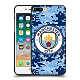 Head Case Designs Offizielle Manchester City Man City FC Ziegel Blaumond Digital Camouflage Soft Gel Hülle Schwarz für Apple iPhone 7 Plus/iPhone 8 Plus