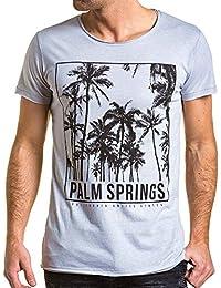 BLZ jeans - Tee-shirt homme gris imprimé palmier