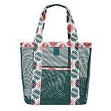 Hosaire Netz Tasche Grün Reise Beutel Sand Handtaschen Schulter Hohe kapazität Strand-Tasche Multifunktions Kleidung Eintritt Paket waschen tasche