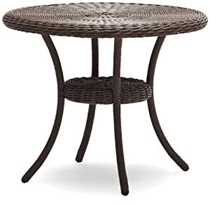 strathwood hayden all weather wicker table