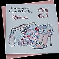 Handmade Personalised Handbag & Shoes Birthday Card