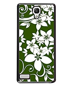 FIOBS amazing floral art green and white perfume flowers Designer Back Case Cover for Xiaomi Redmi Note