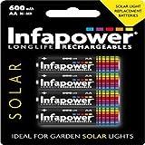 Infapower Solar Wiederaufladbare Akkus
