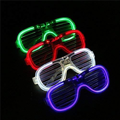 The Glowhouse 12 x Light Up LED Shutter Glasses Flashing Sunglasses Shades