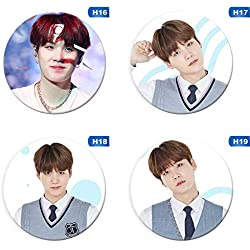 "Christ For Givek Kpop BTS Bangtan Boys Love Yourself 结 ""Answer"" Botones de fotos Badges/Pin (58mm)(H03-4PCS)"