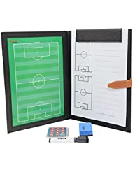 Professional Fußball Taktikmappe Taktiktafel Fußball Coach-Board mit Stifte, Radiergummi, Magneten