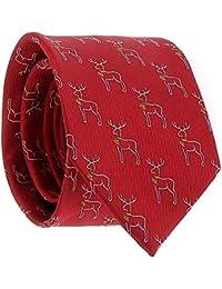 01573fc2aceb8d SHIPITNOW Weihnachten Krawatte Jacquard - Weihnachtsren Krawatte -  Weihnachten Rentier - Heiligabend Krawatte