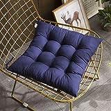 GOUSED Baumwolle Stuhl Pad , Soild Farbe Sitz Polster zum Essen Büro Auto Stuhl Pad Polster Mit Krawatten -Navy