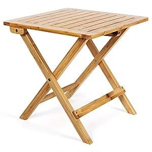 songmics garden table d 39 appoint table pliante table basse. Black Bedroom Furniture Sets. Home Design Ideas