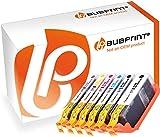 Bubprint 6 Druckerpatronen kompatibel für Canon PGI-580 CLI-581 PGI 580 CLI 581 XXL für Pixma TS8150 TS8151 TS8152 TS9150 TS9155 TS8100 TS9100 Series