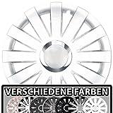 (Farbe und Größe wählbar!) 15 Zoll Radkappen ONYX (Weiß) passend für fast alle Fahrzeugtypen (universell) - vom Radkappen König