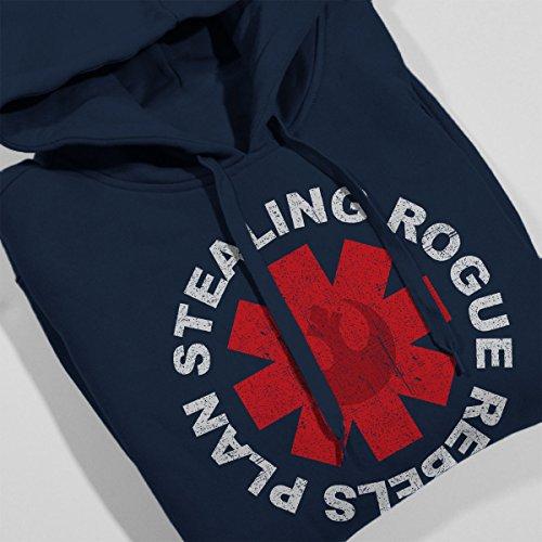 Star Wars Rogue One Plan Stealing Chilli Peppers Logo Women's Hooded Sweatshirt Navy blue