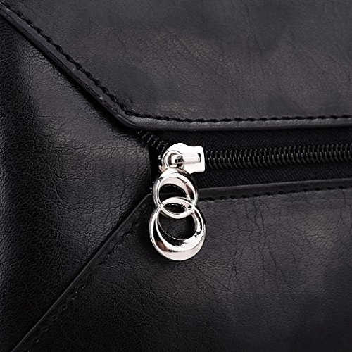Kroo Pochette Portefeuille en Cuir de Femme avec Bracelet Étui de protection d'écran Béquille intégrée G4/G5 Bleu - Blue and Red noir - Noir/rouge