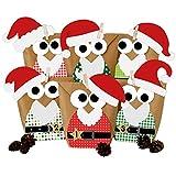 LD Weihnachten Deko DIY Adventskalender Set zum Basteln – Weihnachtseulen mit zusätzlicher Deko