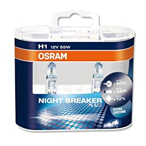 Lampe halogène, Osram Night Breaker Plus, H1 12V/55W