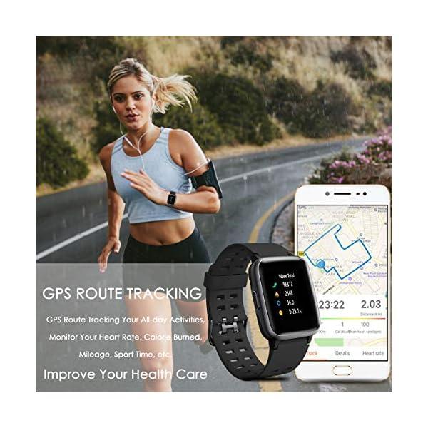 CHEREEKI Reloj Inteligente, Smartwatch Impermeable IP68 Pulsera Actividad 1.3 Pulgada con Monitor de Ritmo cardíaco… 6
