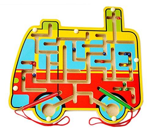 [Bus] Kinder-Holzspielzeug vorschulisch Matze Brettspiel Familienspiel
