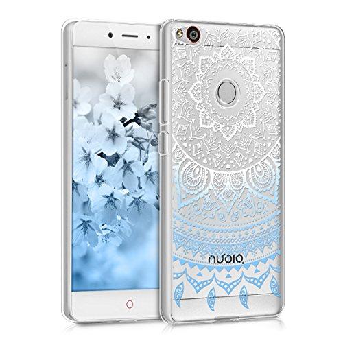 kwmobile ZTE Nubia Z11 Hülle - Handyhülle für ZTE Nubia Z11 - Handy Case in Blau Weiß Transparent