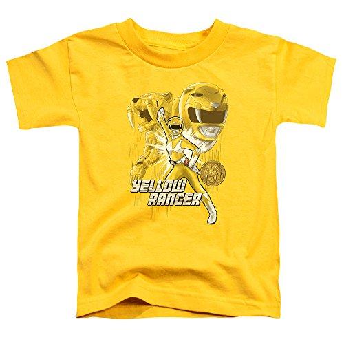 Power Rangers - - Ranger T-Shirt für Kinder, 2T, Yellow (Power Rangers Yellow Ranger Shirt)