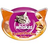 Whiskas Temptations Cat Treats with Beef, 60 g - Pack of 8