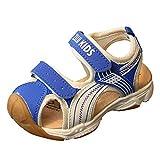 Conquro Zuecos para Unisex Niños Sandalia Zapatos Zapatillas Chanclas de Playa de Verano Sandalias de Verano Aire Libre para Muchachos Chicas Cuero cómoda con Zapatillas Velcro Sneakers