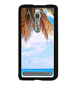 White Sand Beach 2D Hard Polycarbonate Designer Back Case Cover for Asus Zenfone 2 ZE551ML