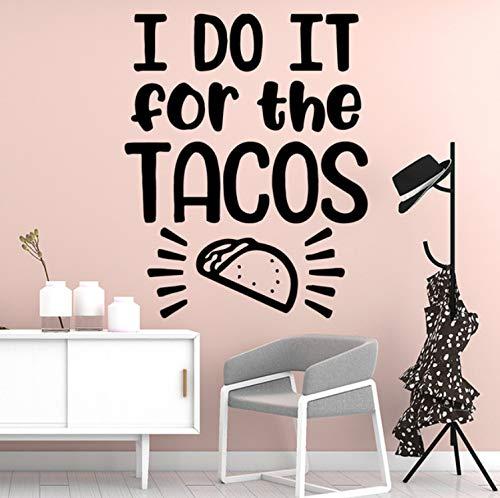 Schöne Tacos Wandaufkleber Dekoration Für Kinderzimmer Wohnzimmer Wohnkultur Schlafzimmer aufkleber 43x34cm