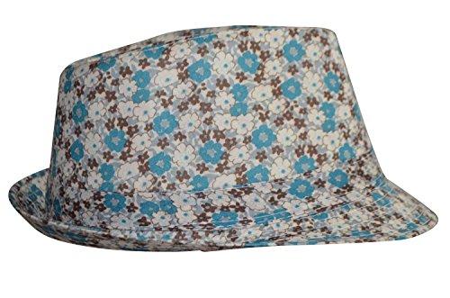 karl-loven-cappello-fedora-donna-bleu-vert-taglia-unica