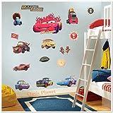 GROSSE DISNEY PIXAR CARS/LIGHTNING MCQUEEN, HOOK CHILDREN'S ROOM DECOR WANDAUFKLEBER, 70 x 50 CM