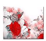 LIWEIXKY Rahmenlos Malen Nach Zahlen DIY Digital Blumen Schmetterling Fliegen Ölbilder Auf Leinwand Kits Coloring Abstrakte Wohnkultur Wandkunst 50X60Cm