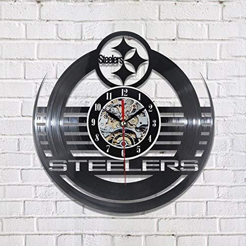 ttymei Moderne Stahlplatte der CD-Vinylaufzeichnungs-Wanduhr, die Klassische Uhr der Tabellenausgangsdekoration hängt