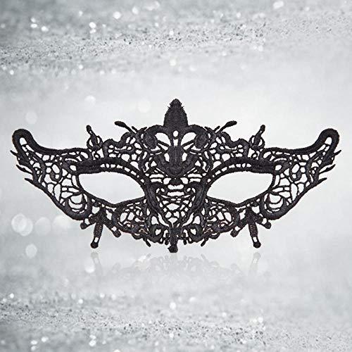MIANJUMJ Halloween Maske Für Frauen, Sexy Prom Blume Herz Schwarze Spitze Spaß Hohlen Erwachsene Eye Mask Für Hochzeit Party Abend Masquerade Kostüme Halbe Gesichtsmaske