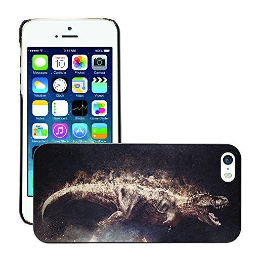 Premium Slim Polycarbonate Aluminium Cassa del telefono Custodia Case Bandiera Cover Armor // M00053071 dino reptile t-rex king animal t // Apple iPhone 5 5S - Accessori Per La T-rex Reptile