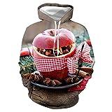 serliyUnisex Kapuzenpullover Langarm Pullover Hoodie Sweatshirts Kapuzenjacke für Herren Damen Schöne Bescherung Weihnachtshoodie Damen Hoodie