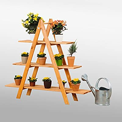 Decorative Garden Pot Stand Ladder, Plant Shelf, Plant Theatre