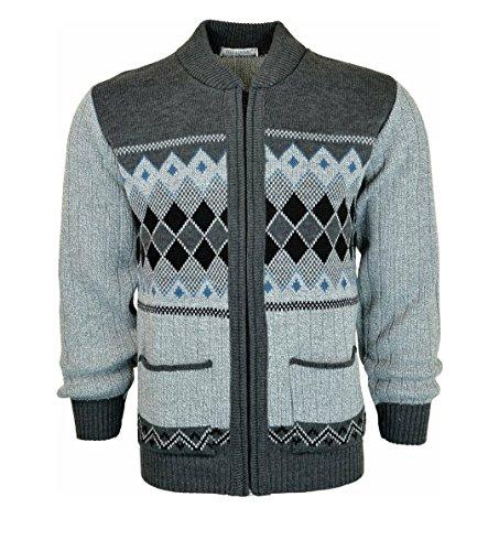 Bellisimo Herren Pullover One size Light Grey-Dark Grey