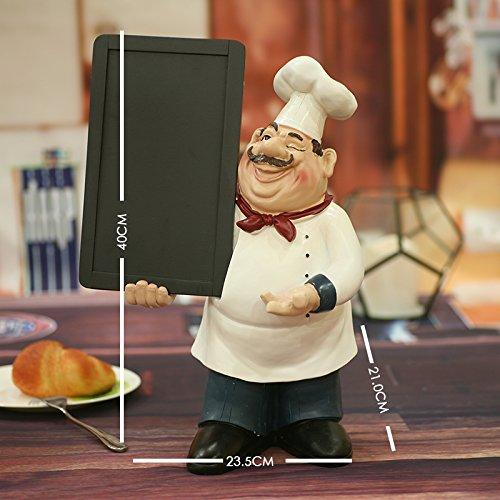 XOYOYO Im Europäischen Stil Restaurant Kreative Kleine Tafel Stil Western Restaurant Chef Handwerk Schmuck Werbegeschenke, Chef's Message Board (40 Zentimeter) - Board Keramik-message