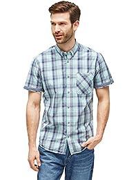 TOM TAILOR Herren Freizeithemd Ray Peached Check Shirt