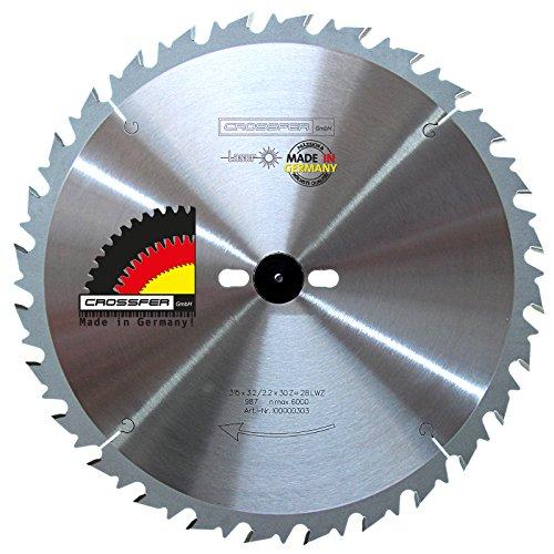 Hartmetall HM Kreissägeblatt 315x30 Z28 WZ Wechselzahn für Tischkreissägen, Handkreissägen, Gehrungssägen und Wippkreissägen. Grobschnittsägeblatt für den Längs- und Querschnitt in der Holzverarbeitung und Brennholzverarbeitung