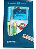 Schneider Schreibgeräte Füllhalter Base Kid, Anfängerfeder, grün/blau mit Motiv Monster -