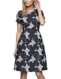 APART Fashion Damen A-Linie Kleid 61415, Knielang