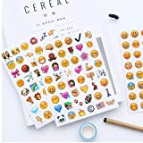 Zonster 4 Blätter/Satz 192 Emoji Lächeln Gesichts Tagebuch Aufkleber DIY Kawaii Scrapbooking Stationery Sticker Briefpapier New School Supplies